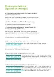 Modern geschnittene Eigentumswohnungen - GWH-Riedberg