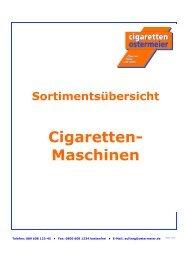Cigaretten- Maschinen - Cigaretten Ostermeier