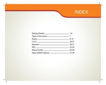 Demo Book on Online Investing - ICICI Direct