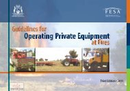 Guidelines for Operating Private Equipment - Department of Fire and ...