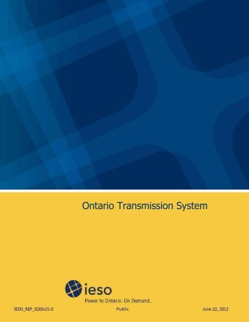 Ontario Transmission System - IESO