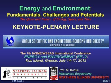 Energy and Environment: - Kostic - Northern Illinois University