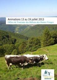 Animations 13 au 19 juillet 2013 - RemiremontInfo
