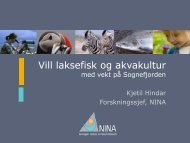Presentasjon frå NINA - Sogn og Fjordane fylkeskommune