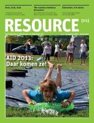 RESOURCE AID 2013: Daar komen ze! - Wageningen UR