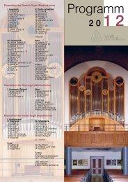 Jahresprogramm 2012 - Evangelische Gesamtkirchengemeinde ...