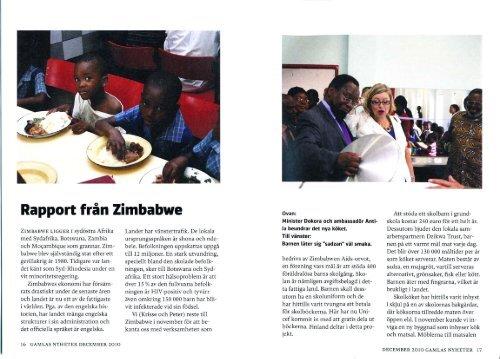 Rapport från Zimbabwe - Zimbabwen Aids-Orvot ry
