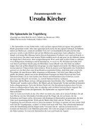 Zusammengestellt von Ursula Kircher Die Spinnstube im Vogelsberg