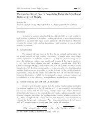 Maximizing Signal Search Sensitivity Using the Likelihood Ratio as ...