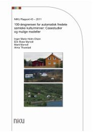 100-Ã¥rsgrensen for automatisk fredete samiske kulturminner - NIKU