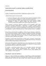 Zasada konkurencyjności w projektach współpracy ...
