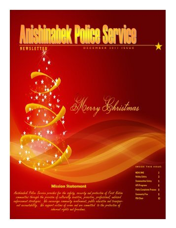 Anishinabek Police Service provides for the safety, security and ...