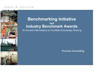 Benchmarking Initiative - Growth Consulting - Frost & Sullivan