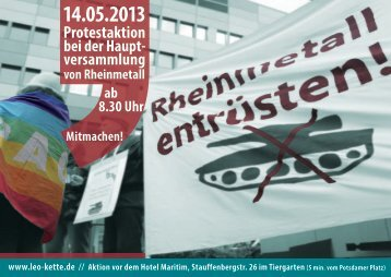Flugblatt zur Aktion - Christine Buchholz