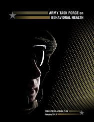 ARMY TASK FORCE on BEHAVIORAL HEALTH - Deputy Chief of ...