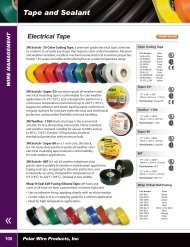 Tape and Sealant pages 100-101 - Polar Wire Products Inc