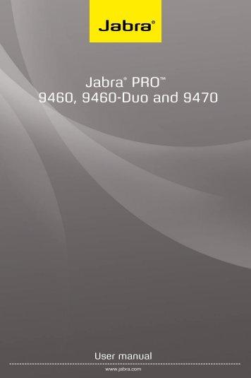 Jabra PRO 9460/9470 User Manual - Comfort Telecommunications ...