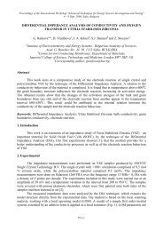 DIFFERENTIAL IMPEDANCE ANALYSIS OF CONDUCTIVITY AND ...