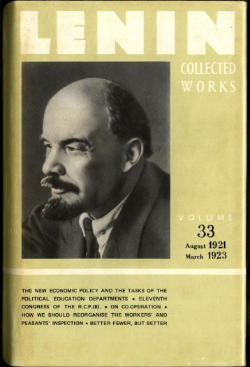 Lenin CW-Vol. 33-TC.pdf - From Marx to Mao