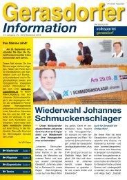 Gerasdorfer Information - Volkspartei Gerasdorf