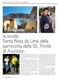 Paraguay: la scuola Santa Rosa da Lima della ... - Stimmatini