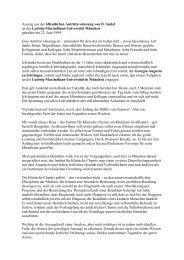 Auszug aus der öffentlichen Antrittsvorlesung von D. Seidel an der ...