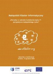 O konferencji - Eklaster, Małopolski Klaster Informatyczny