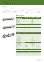 Induktive Sensoren der Serie AE1 Serie AE1 Technische ... - Welotec