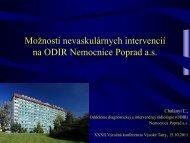 Možnosti nevaskulárnych intervencií na ODIR Nemocnice Poprad a.s.