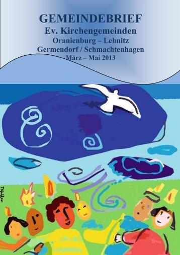 Gemeindebrief 03.2013 - Neues - Evangelische Kirchengemeinde ...