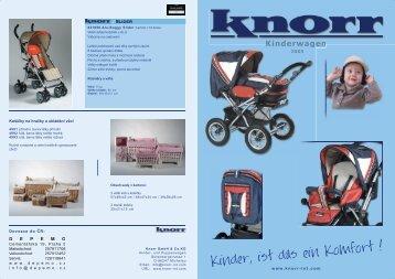 Katalog kočárky KNORR 2005 - Depemo