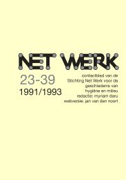 Net Werk voor de Geschiedenis van Hygiëne en Milieu 1991-1993 ...