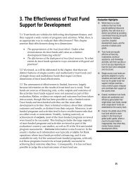 Chapter 3. The Effectiveness of Trust Fund Support for Development