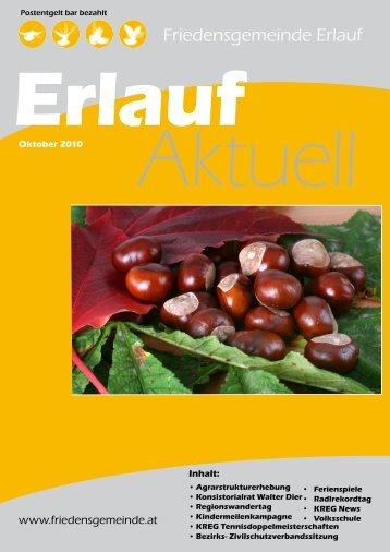 Gemeindezeitung Oktober 2010 (1,01 MB) - Friedensgemeinde Erlauf