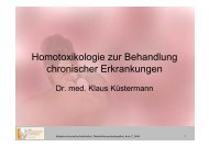 Homotoxikologie zur Behandlung chronischer Erkrankungen