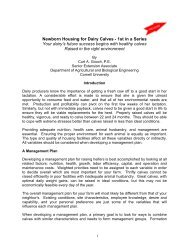 Newborn Housing for Dairy Calves - Department of Animal Science ...