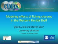 Modeling effects of fishing closures in the Western Florida Shelf