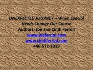 Unexpected Journey, When Special Needs Change Our Course