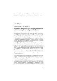 Treffpunkt Bildung - Arbeiten + Lernen an Lippe + Emscher