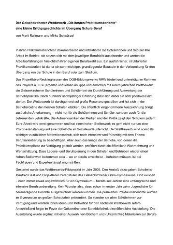 Die besten Praktikumsberichte - Arbeiten + Lernen an Lippe + ...