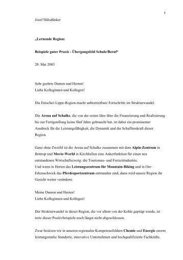 Lernende Region: Beispiele guter Praxis - Übergangsfeld Schule ...