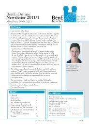 BenE-Newsletter 2011/01 vom 14.04.2011 (pdf ... - BenE – München