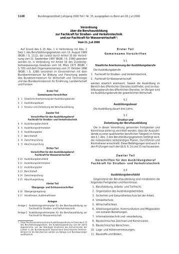 Fachkraft für Wasserwirtschaft - BiBB