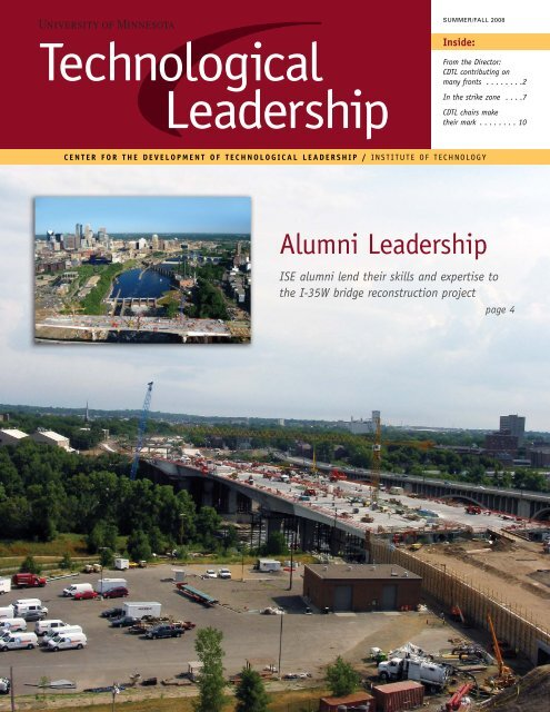 Summer/Fall 2008 - Technological Leadership Institute - University ...