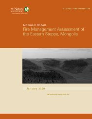 Fire Management Assessment of the Eastern Steppe, Mongolia