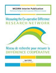MCDRN Interim Publication - Measuring the Co-operative Difference ...
