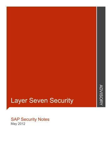 May - Layer Seven Security