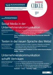 Social Media in der Unternehmenskommunikation ... - Business Circle