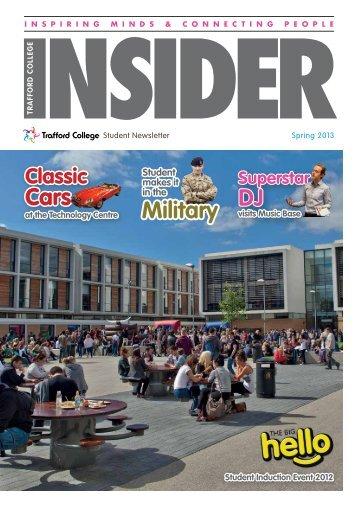 Trafford College Insider Spring 2013