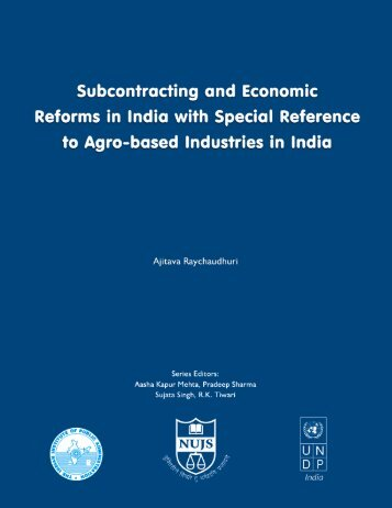 Subcontracting and Economic - Indian Institute of Public Administration